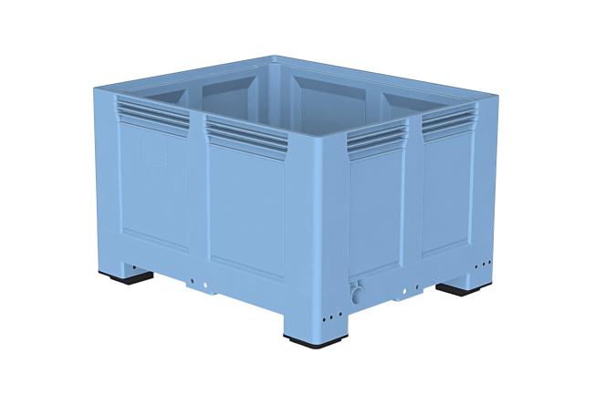 Heavy Duty Palletbox 1200x1000x767 mm gesloten op 4 poten