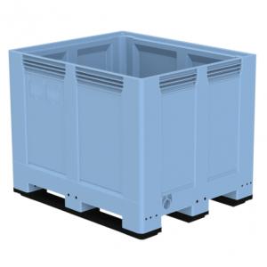 Heavy Duty palletbox 1200 x 1000 x 957 mm gesloten op 3 sleeplatten
