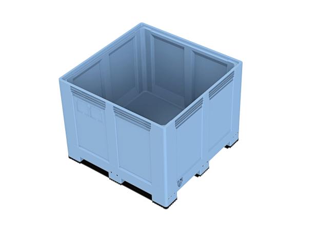 Heavy Duty palletbox 1200 x 1200 x 937 mm gesloten op 4 poten